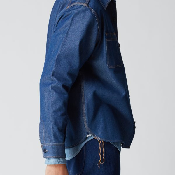 6d65bb2d57 BN Natural Blue Selvedge Denim Blue Cast Work Shirt – Blue Nails